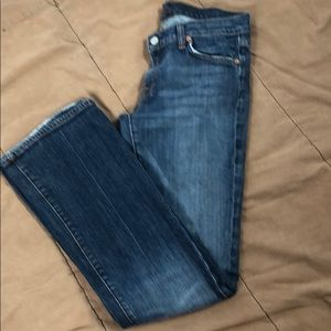 7 For All Mankind Bootcut Distressed Jeans Size 29